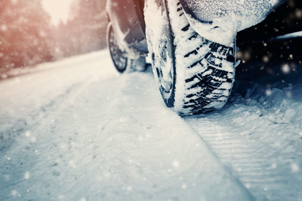 Car Maintenance Tips for the Wintertime winter tires in the snow